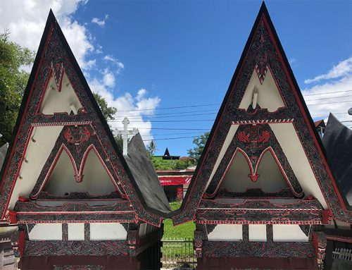 Batak houses on the island of Samosir