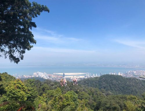By train to the top of Penang Hill; a nerve-wracking experience