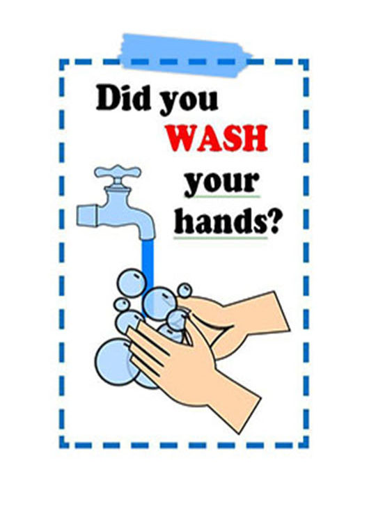 Poster washing your hands Covid-19