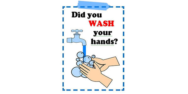 Poster about washing your hands during Covid-19