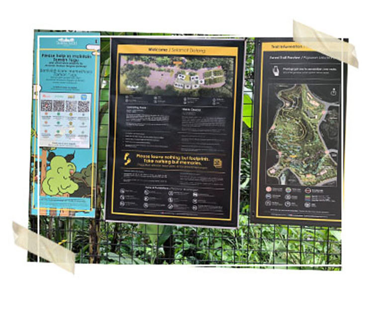 Map of Taman Tugu Forest