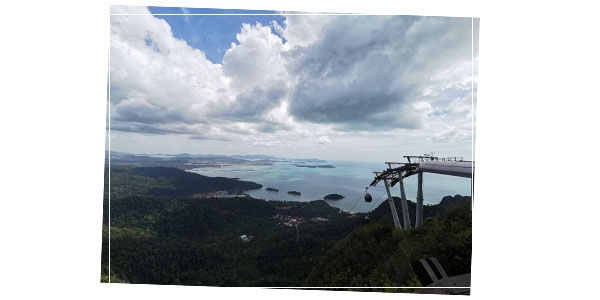View from the top of Langkawi