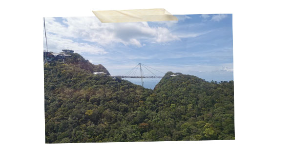 In the skycap to the highest point in Langkawi
