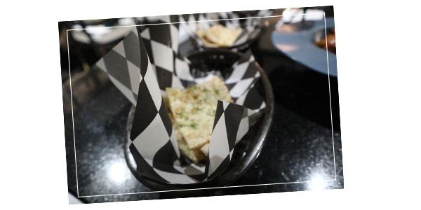 Garlic naan at FLOUR restaurant