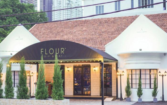 Entrance FLOUR restaurant