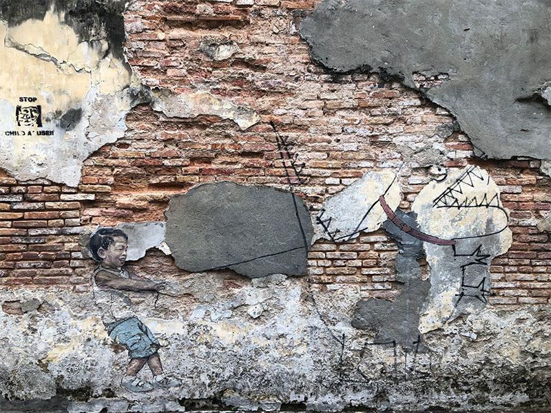 Street art Georgetown 'Baby Dino'
