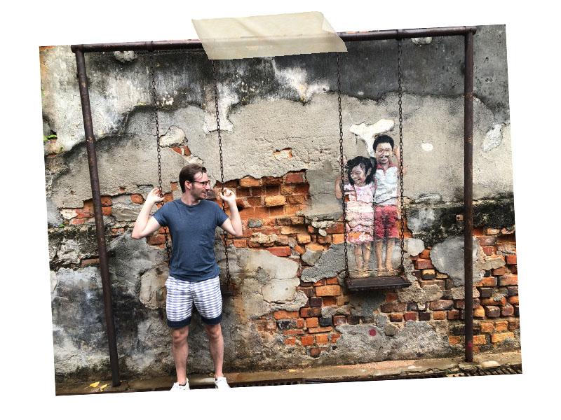 Jeroen street art Penang