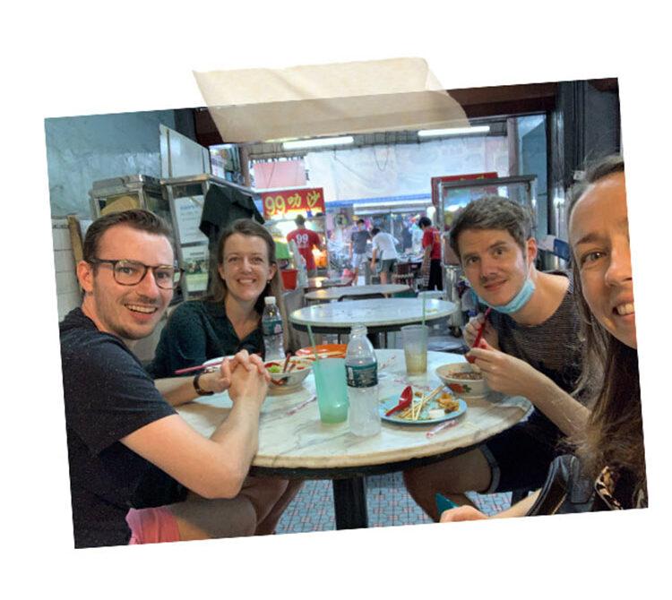 Eating street food in Penang