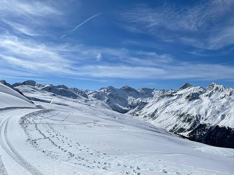 Ski piste in Davos