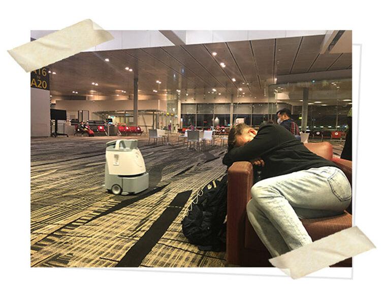 Waiting at Changi Airport