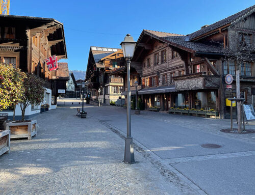 Gstaad one of the most exclusive winter sports resorts in the world