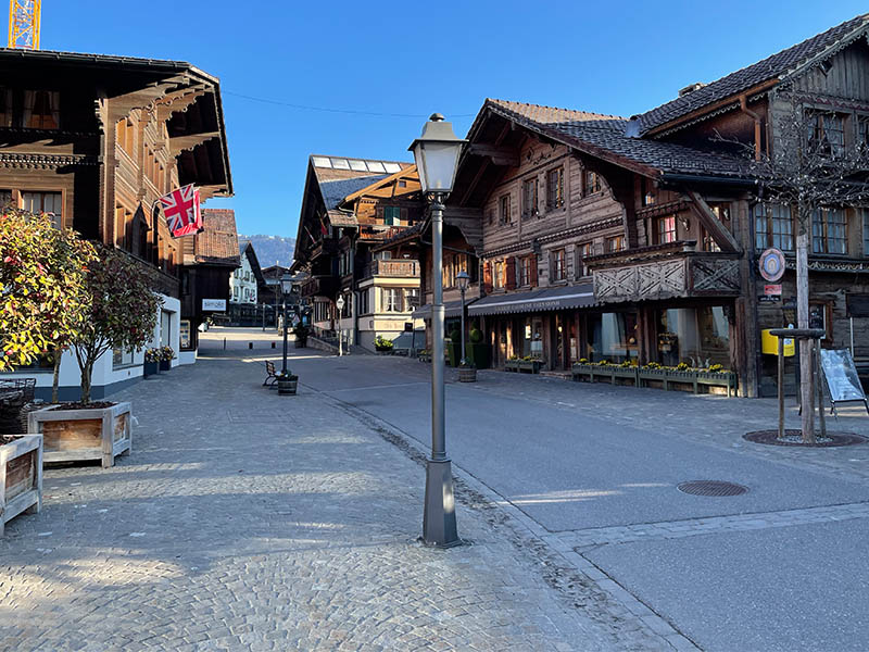 Gstaad wooden chalets