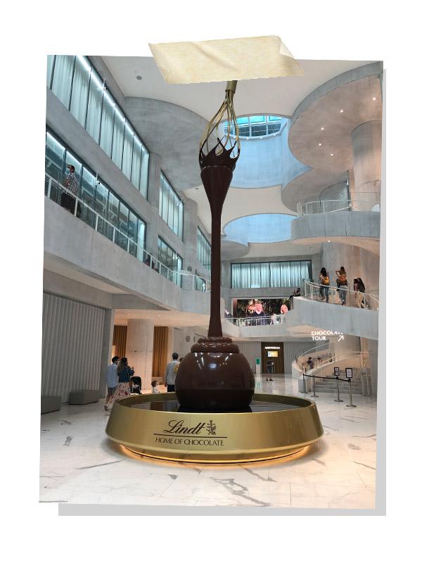 Chocolate fountain Lindt museum Kirchberg